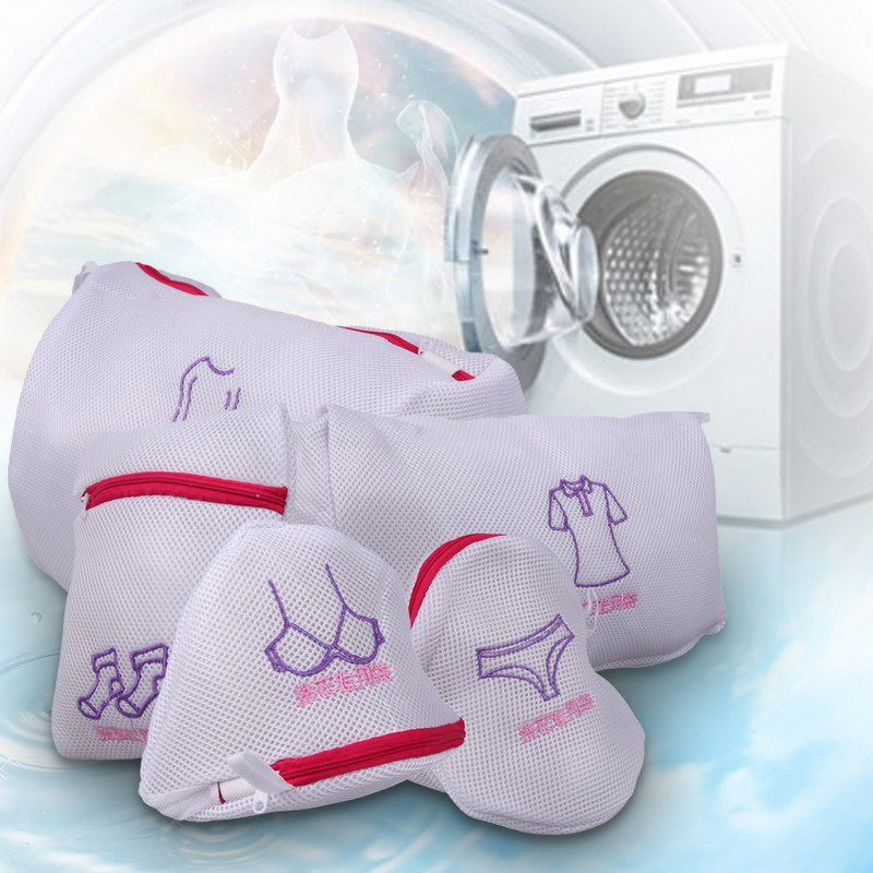 5 Pcs Laundry Bags Bra Underwear Baskets Mesh Bag Laundry Washing Care Pouch Household Cleaning Kits
