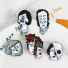 Halloween Split Face Lapel Pins 4