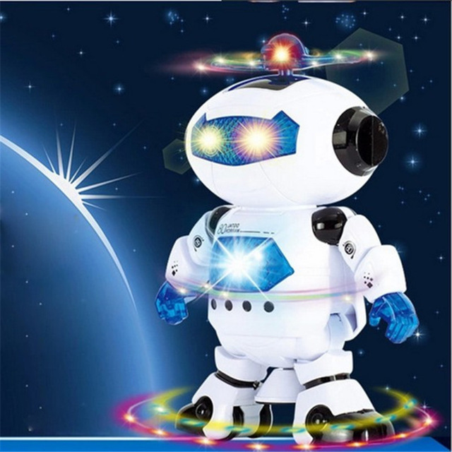 360 rotating children electronic walking dancing smart space robot kids cool astronaut model music light toys - Cool Electronic Christmas Gifts