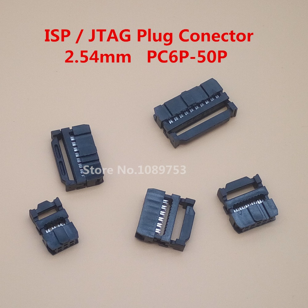 10 Pcs 2.54mm Pitch 6 Position 8 10 12 14 16 18 20 24 26 30 34 40 Pin Female IDC Socket IDC Connector Ribbon Cable