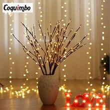 0b4fec47ab0 Sauce LED rama lámpara Floral luces 20 bombillas hogar Navidad decoración  de la fiesta de cumpleaños