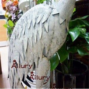 Image 3 - Высота 95 см, белые железные высокие краны, водонепроницаемые украшения, съемные, садовая вилла, украшение, подарки на новоселье, украшение для сада