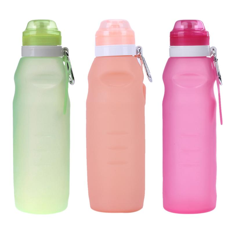 750ML Collapsible Extruded Silicone Water Bottle Outdoor Sport Camping Travel Running Water Bottle