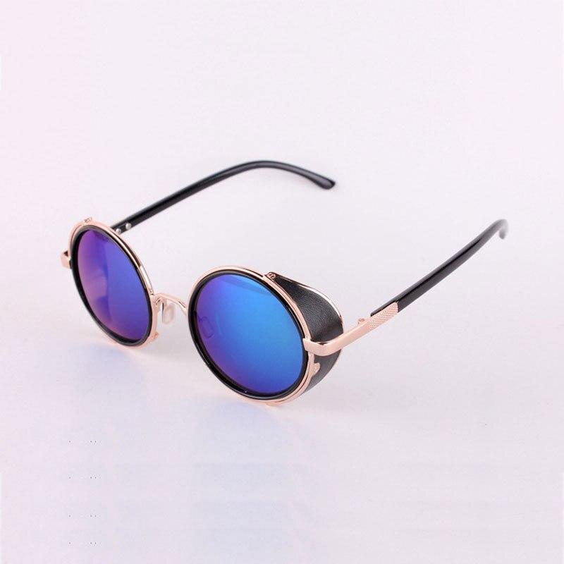 3427413d2 الرجال تبريد نظارات الأسود جولة العدسات النظارات الشمسية الذهب إطارات  Oculos Steampunk من Feminino ميرو عدسة سبيكة معدنية إطار الرجعية