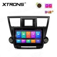10,1 Android 8,1 автомобильный стереоплеер gps радио для Toyota Highlander 2008 2009 2010 2011 2012 2013 Нет DVD