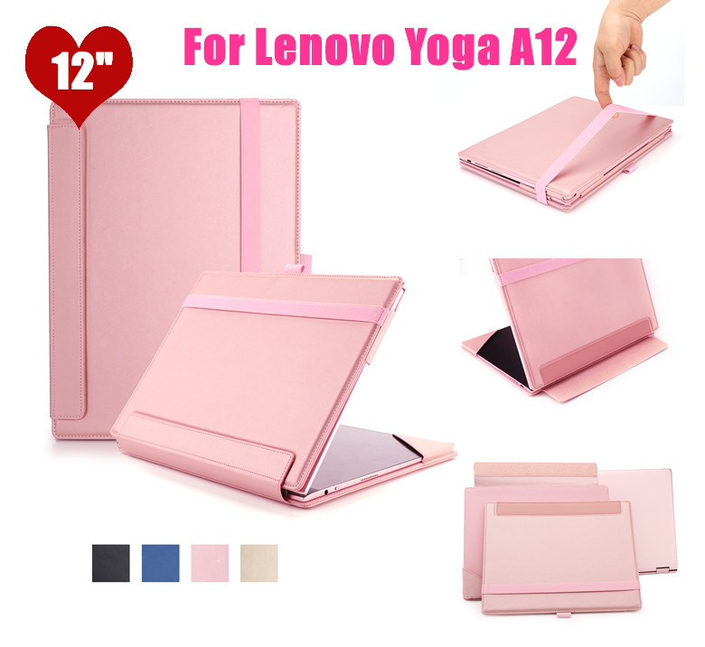 Yoga A12 Flip Cover Leather Case  For Lenovo Yoga A12 12 12.0 inch tablet case smart Cover can put Keyboard neworig keyboard bezel palmrest cover lenovo thinkpad t540p w54 touchpad without fingerprint 04x5544