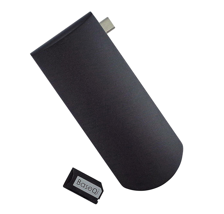 MacDock USB-C Hub with BaseQi Ninja Stealth SD Slot, USB Type C Hub with Power Delivery for Charging, SD Card Reader 668 usb 3 1 type c card reader
