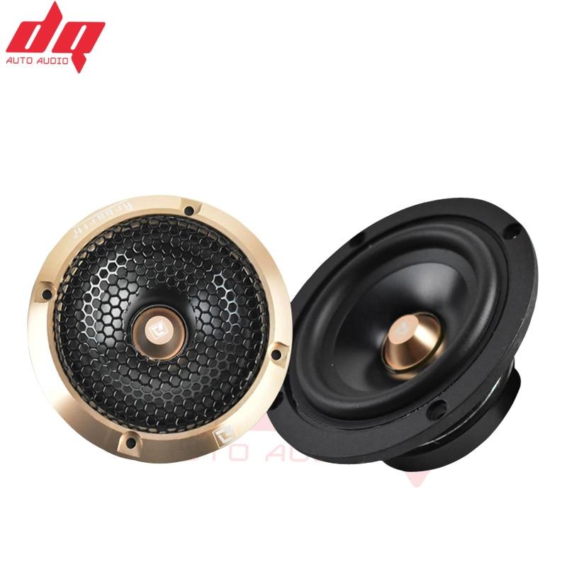 All Aluminum Car Audio Car Mid-range Speaker 3.5 Inch Midrange Speaker 3 Inch Midrange Speaker Three-way Speaker Midrange Black
