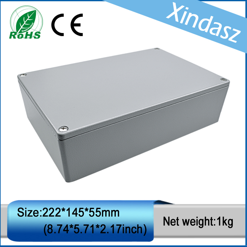 (XD-FA5-1)222*145*55mm(8.74*5.71*2.16inch)waterproof electrical junction boxes Diecast Aluminium Enclosure 222 145 55mm sp fa5 industrial waterproof aluminium box electrical aluminium enclosure with ce rohs