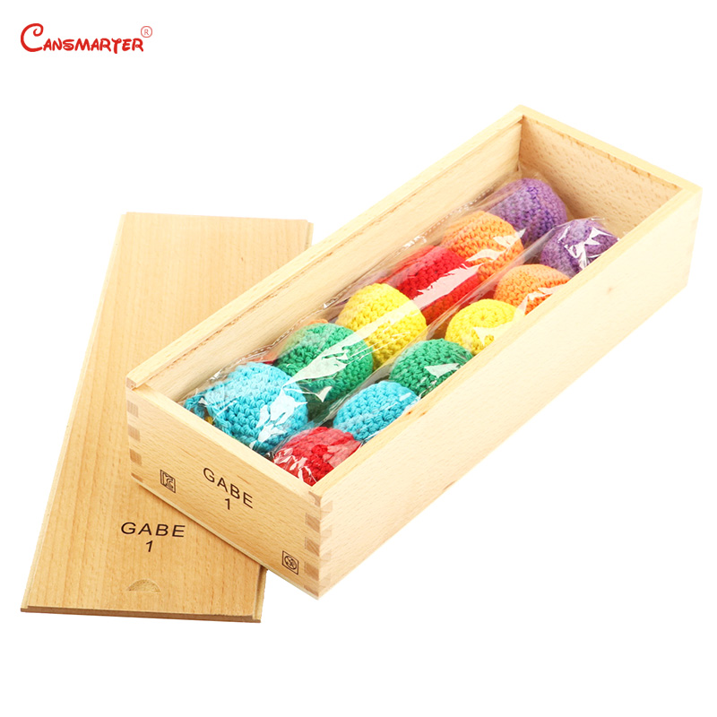 Wooden Toys Frobel GABE Educational Teaching Aids Baby Froebel Color Training Toys GABE1 Games Knitted Balls With Box N001 3 in Math Toys from Toys Hobbies