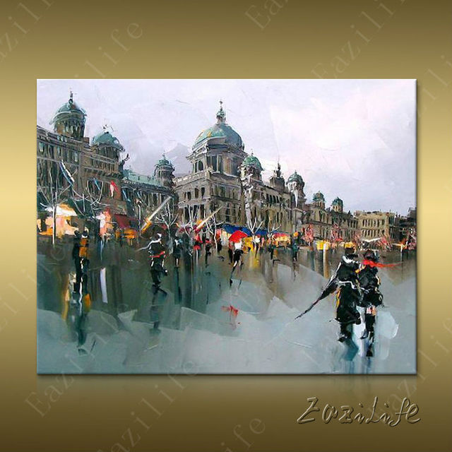 Paris Street Art Painting Home Decor Decoration Oil Wall Pictures For Living Room