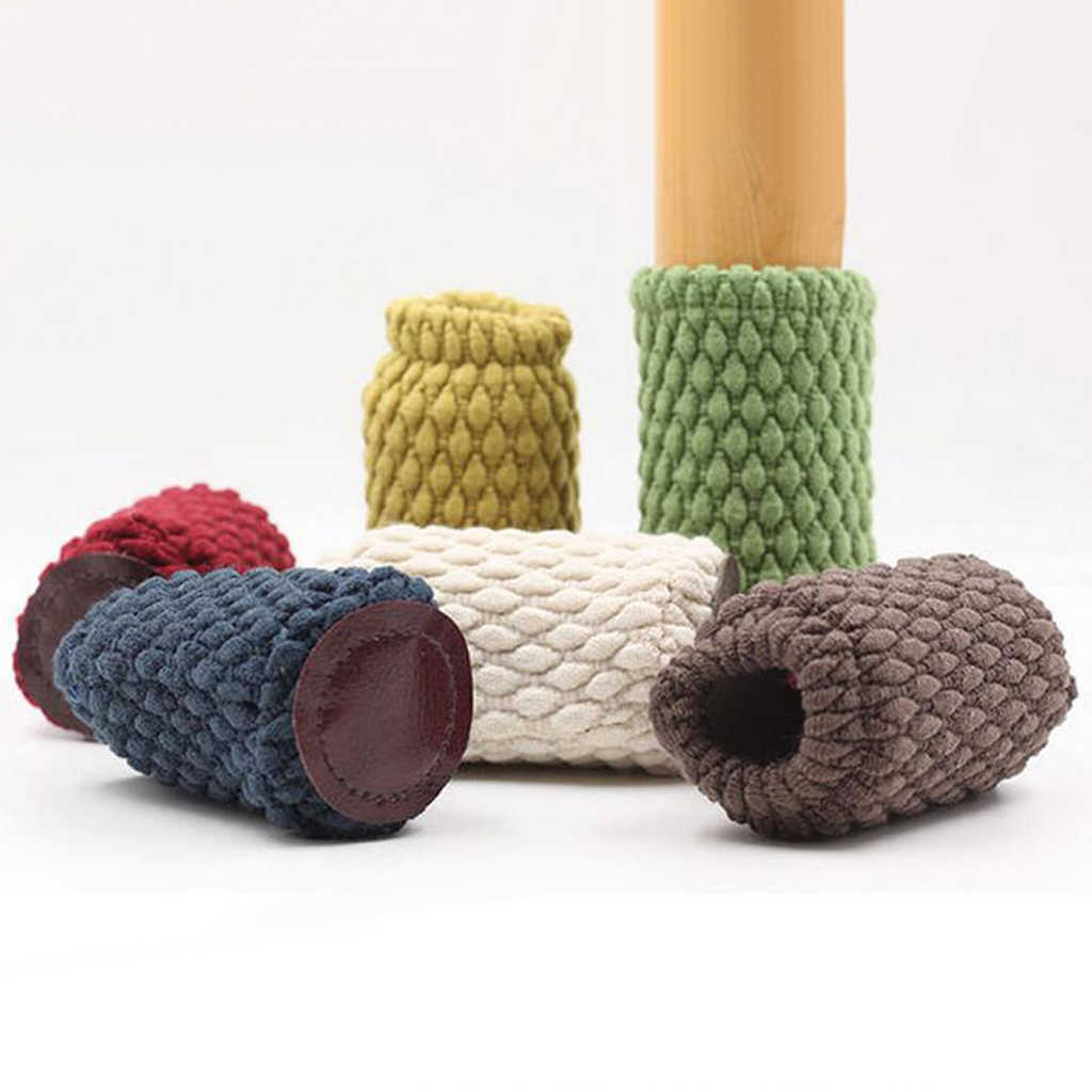 4 قطعة كرسي الساق الجوارب أقدام أثاث غطاء حافظات الأرضية لتجنب الخدوش تقليل الضوضاء