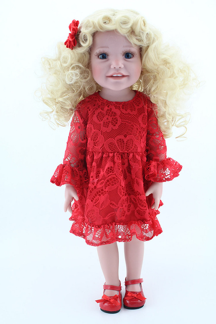 Pretty American 18 inch Baby Doll Kids Toys Gift Long
