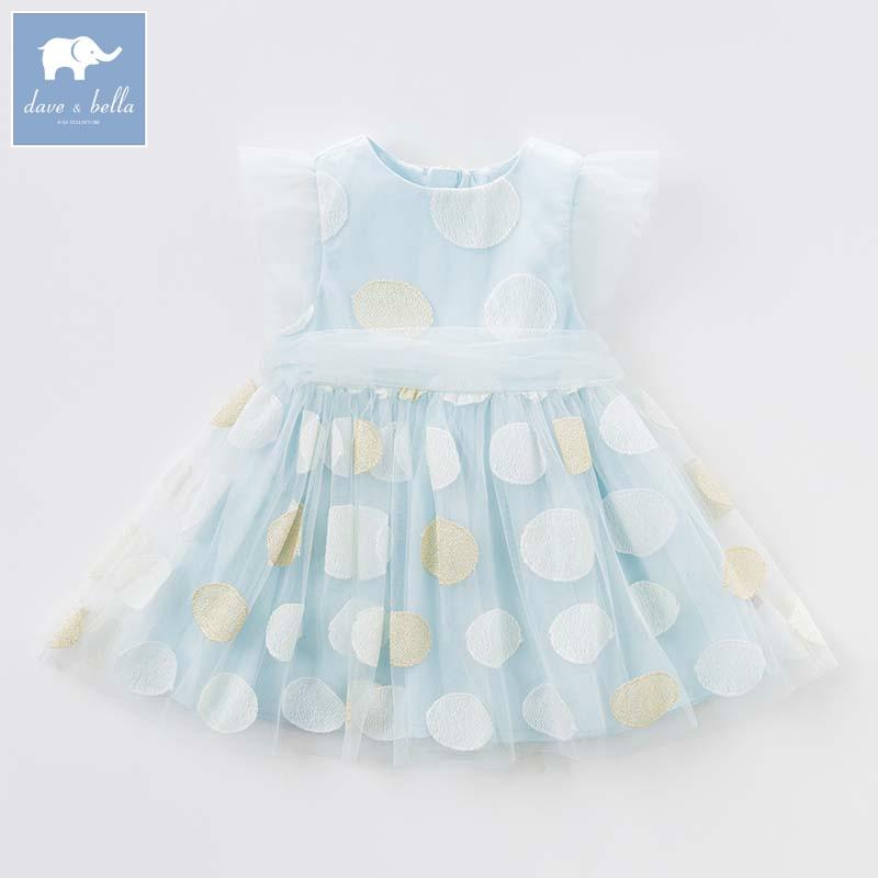 где купить Dave bella Princess girls dresses children summer party wedding clothes baby embroidery costumes infant toddler gown DB7576 по лучшей цене