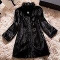 Плюс Размер 4XL 5XL 6XL Искусственного Меха Пальто для Женщин Зиму Шубу Синтетические Норки Пальто Дамы Меха куртка