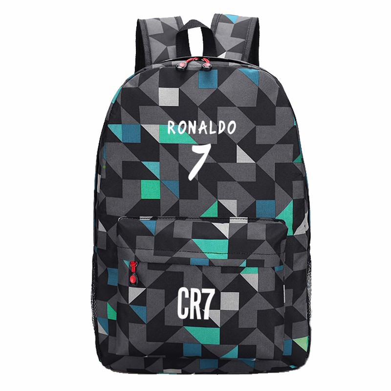 Teen Men Backpack Boys School Bags for Teenagers Back Pack Cristiano Ronaldo Backpacks Fashion Bookbags for Children Traveling