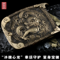 Handmade quality strap male casual brass dragon buckle belt