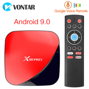 X88 PRO Smart TV BOX Android 9.0 4GB 128GB 32GB 64GB Rockchip RK3318 Quad core WIFI 4K Google Play YouTube Media player 2GB 16GB
