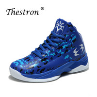 2019 Kids Basketball Shoes Boys Sneakers Rubber Sole Children Boys Basketball Sneakers Blue Black Basket Ball Sport Shoes Kids