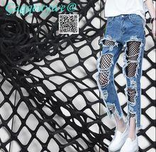 Gagqeuywe wide 1.7m Elastic diamond mesh hollow fabric fishing net diy sex cloth