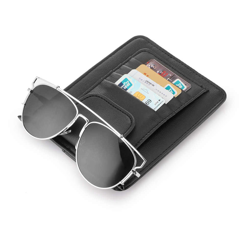 d11a6244df ... AOZBZ Car Sun Visor CD Organizer Storage Holder Detachable Portable DVD  Disk PU Leather with Slots ...