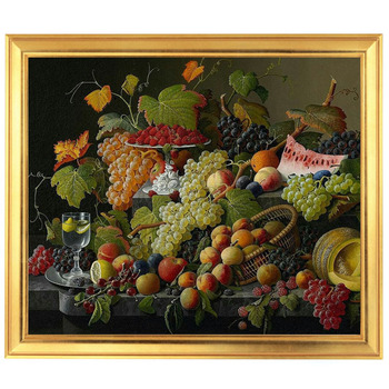 Golden Panno,Needlework,Embroidery,DIY Floral Painting,Cross stitch,kits,14ct Life of Fruit Cross-stitch,Sets For Embroidery