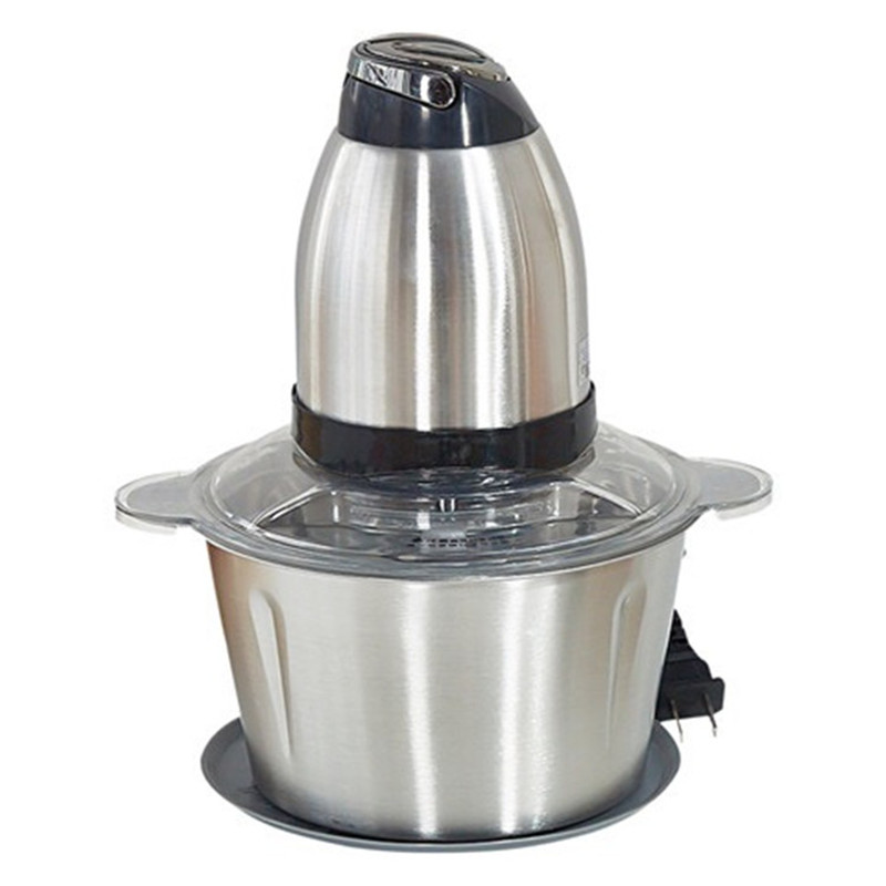 220V EU Plug Stainless steel 2L Capacity 2 Speeds Electric Automatic Meat Grinder Mincer Food Processor au uk eu plug 220v 2l stainless steel meat grinder electric meat mincer