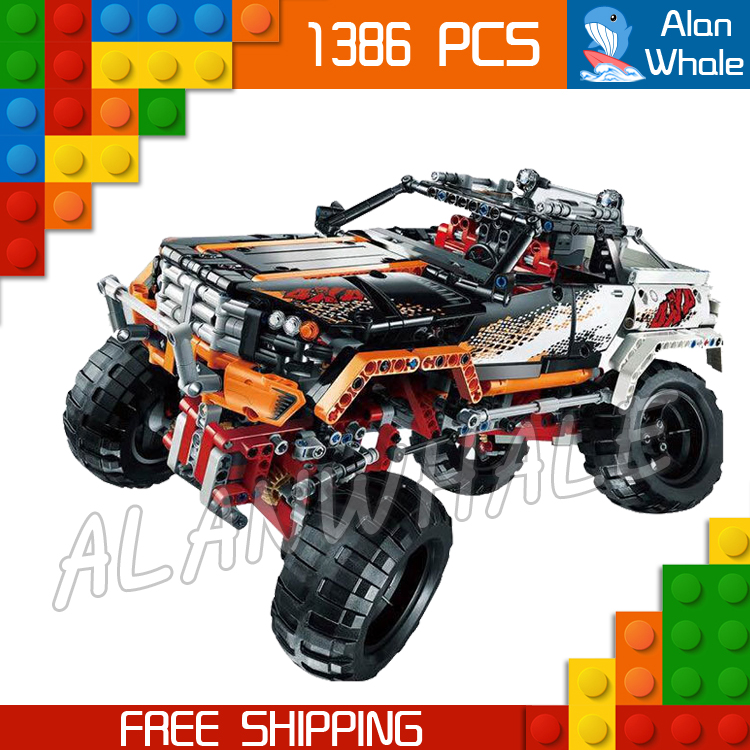 1386pcs 2in1 Technic Remote Controlled 4 x 4 Rock Crawler 20014 DIY Model Building Kit Blocks Gifts Toys Compatible With lego 1636pcs 2in1 techinic remote controlled