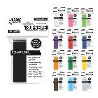 100 PCS SET Matt Scrub Colorful Backs Card Sleeves Cards Protecter For Board Game Cards Magic