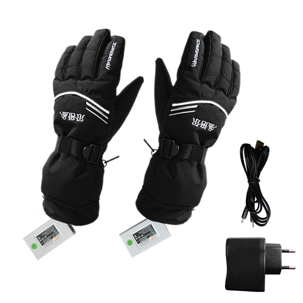 Battery Electric Rechargable Heated Gloves Winter Cycling Riding Hand Warmer Skiing Snowmobile Motorcycle Gloves US/ EU Plug пазлы djeco пазл гадкий утенок