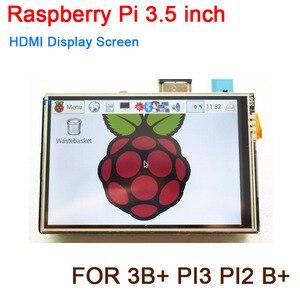 Image 1 - פטל Pi 3.5 אינץ USB HDMI תצוגת LCD מסך מגע אודיו 60Fps צג עבור פטל Pi 3B + PI3 PI2 B + דגם/אפס W