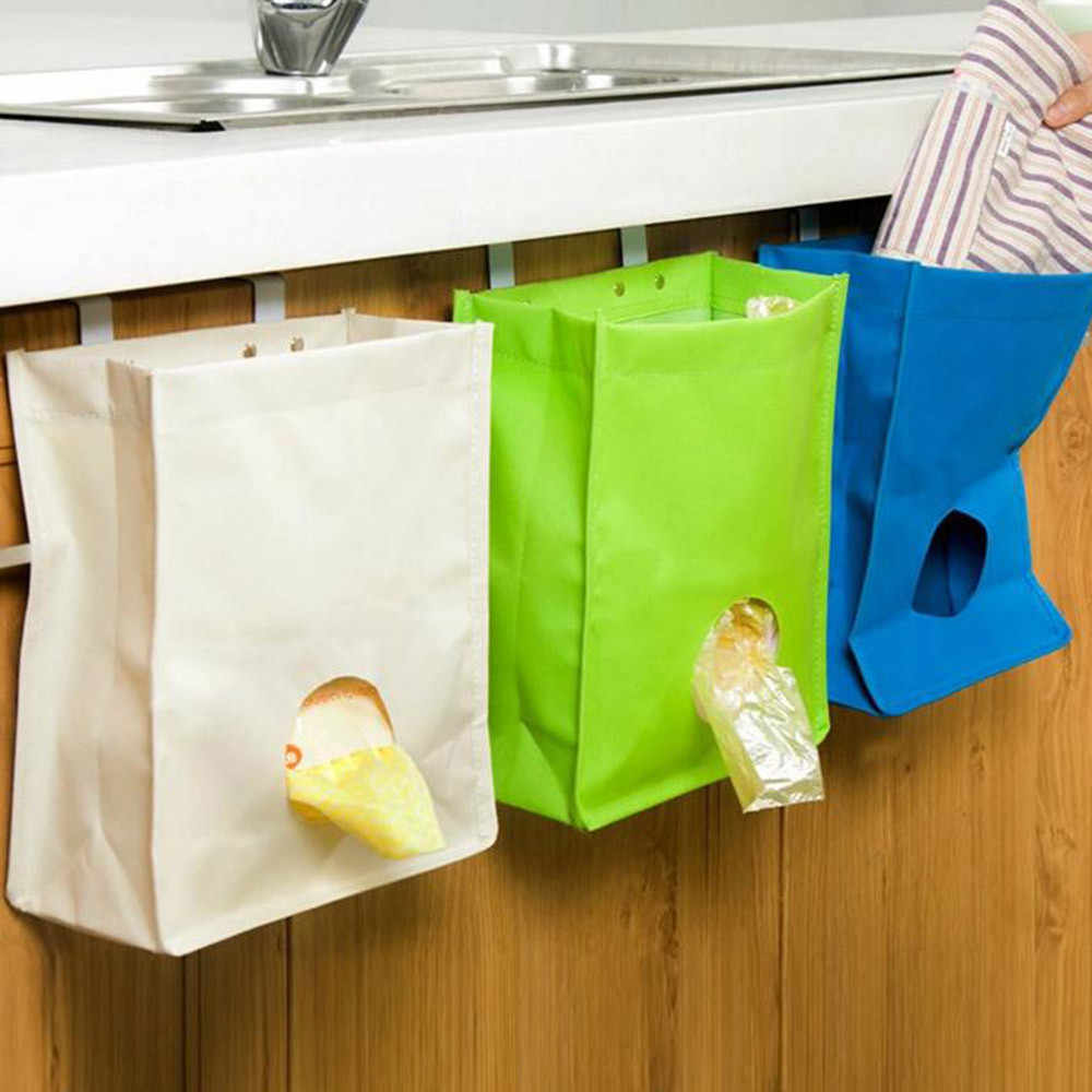 d80d5ceee6f Detail Feedback Questions about Plastic Organizer Breathable Mesh Garbage Bags  Kitchen Hanging Storage Bags Trash Plastic Bag Holder and Dispenser Double  ...