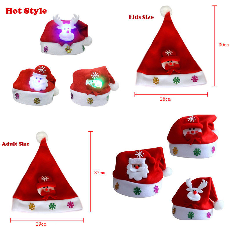 Kinder & Erwachsene Mutter Und Tochter LED Weihnachten Hut Santa ...