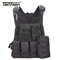 TACVASEN Military Tactical Vest Wargame Body Molle Armor Combat Vest Camouflage Equipment Men Paintball Army Vest