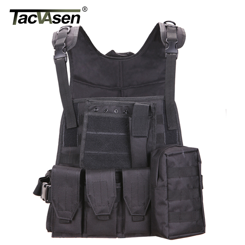 TACVASEN Military Tactical Vest Wargame Body Molle Armor Vest Camouflage Equipment Men Paintball Army Combat Clothes TD-SWT-001 ...