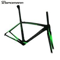 Pleasantly Surprised Super Light 750g Carbon Frame SPOMANN Bike Road Frame 700C Bicycle Parts 47 50