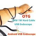1 M 7mm Cable USB de La Cámara Endoscopio Flexible Duro Para Mac OS PC Portátil Teléfono Inteligente Android Animascopio de la Serpiente Inspección de Tubos 6LED
