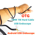 1M 7mm Hard Flexible Cable USB Endoscope Camera For Mac OS PC Laptop Smart Android Phone Borescope Inspection Snake Tube 6LED