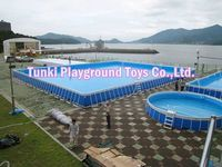 hot sale above ground frame swimming pool