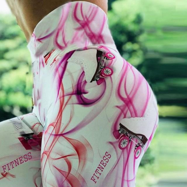 Digital Printed High Waist Female Seamless Yoga Pants