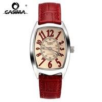 Luxury Brand Watches Women Fashion Red Casual Beauty Fancy Womens Quartz Wrist Watch Waterproof 50m Leather