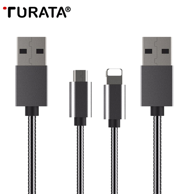 Metal Micro USB Cable 3.3ft Data Sync Adapter [Fast Charging ...