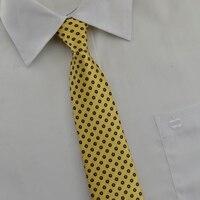 Желтые мужские Галстуки в горошек новинка 2015 8 см шелк Gravata masculina presentes Para namorado Повседневное Бизнес галстук желтый мужские Галстуки в горошек