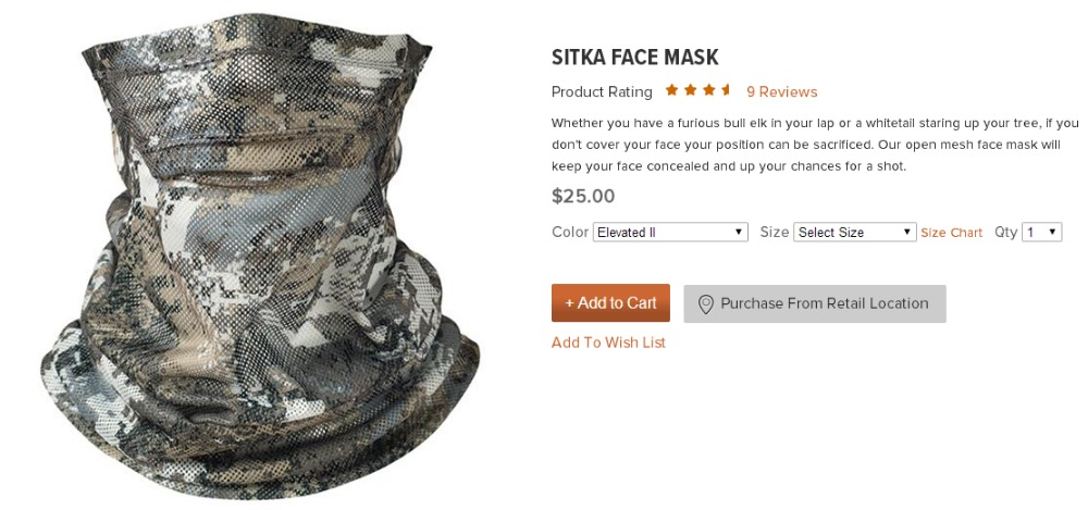 Aliexpress.com : Buy New 2016 Sitka Men Sitka Face Mask Brand ...