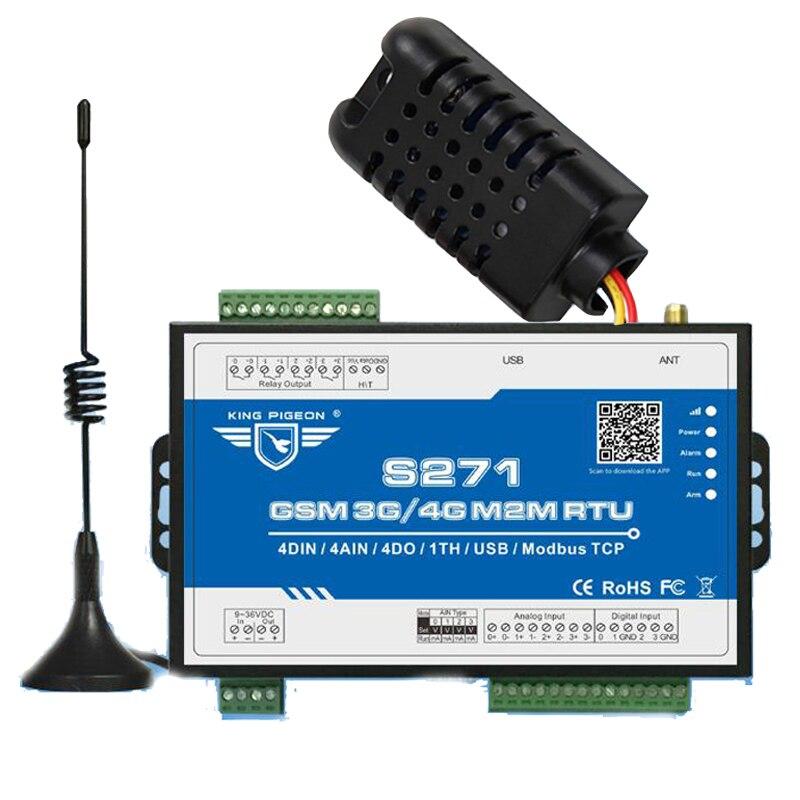 S271 3G M2M RTU SMS Contrôleur D'alarme Système Sans Fil Remote I/O Pour Maching Salle de Surveillance de Transformateur