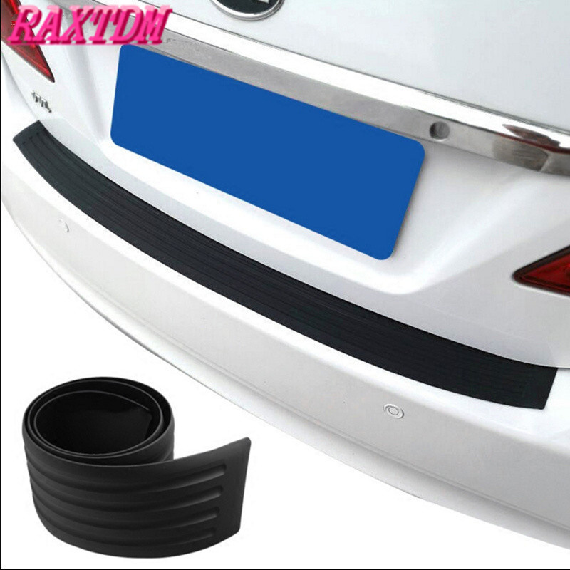 1Set Black Rubber Rear Guard Bumper Protector Trim Cover Sticker Accessories For Mazda 2 3 Axela 5 6 8 MX-5 protective pvc car bumper guard protector sticker white 2 pcs