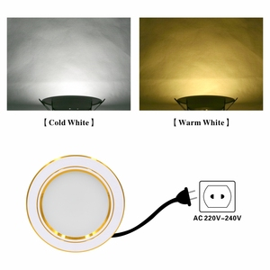 Image 5 - LED Downlight תקרה לבן/לבן חם 5W 9W 12W 15W 18W led תקרת מנורה עגול שקוע AC 220V 230V 240V חדש סוג Downlight