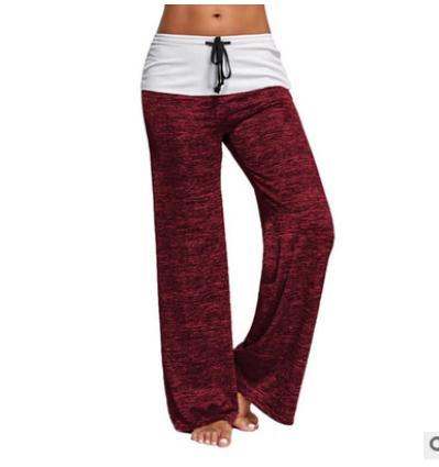 LASPERAL Wide Leg Pants Women Casual Hip Hop Streetwear Loose Straight Trousers Spring Female Patchwork Drawstring Sweatpants