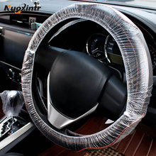 Nuoxintr 100pcs Universally Car Steering Wheel Covers Disposable Plastic Vehicle Maintenance Beauty