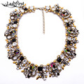 New Za Brand Shourouk Fashion Crystal Necklaces & Pendants Costume Choker Collar Necklace Statement Jewelry B131